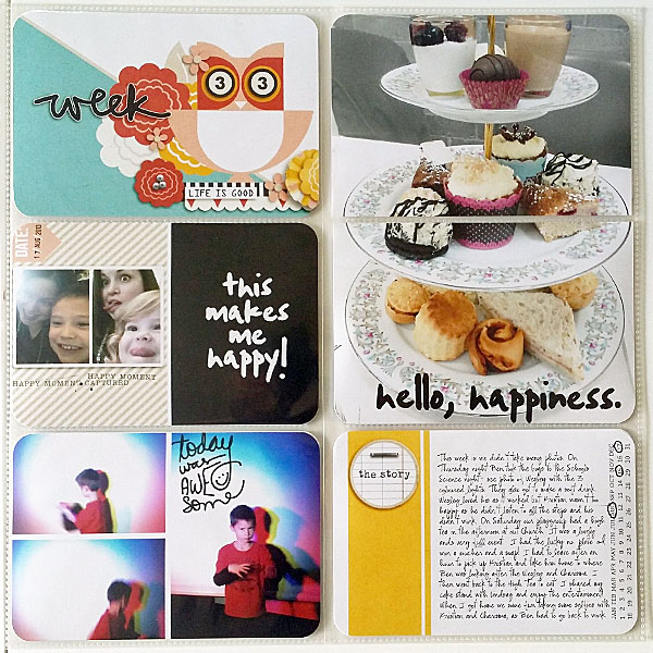 Project Life layout by Ellie using Pure Happiness by Sahlin Studio