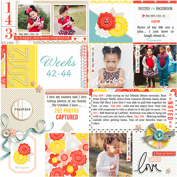Project Life layout by Tronesia using Pure Happiness by Sahlin Studio