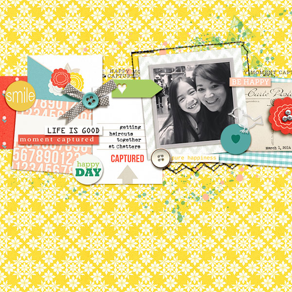 Be Happy digital scrapbook layout by bcnatty using Pure Happiness by Sahlin Studio