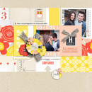 Happiness digital scrapbook layout using Pure Happiness by Sahlin Studio