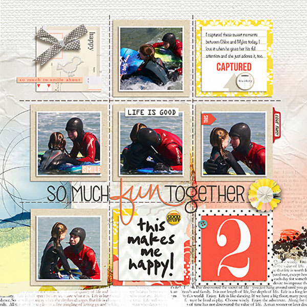 Fun Together digital scrapbook layout by Heather-Prins using Pure Happiness by Sahlin Studio