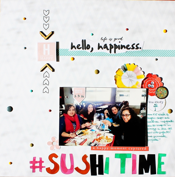 Sushi Time digital scrapbook layout by Rossana using Pure Happiness by Sahlin Studio