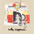 Hello Happiness digital scrapbook layout using Pure Happiness by Sahlin Studio