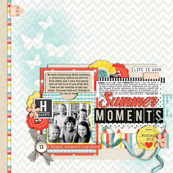 Happy Moment digital scrapbook layout by cindys732003 using Pure Happiness by Sahlin Studio