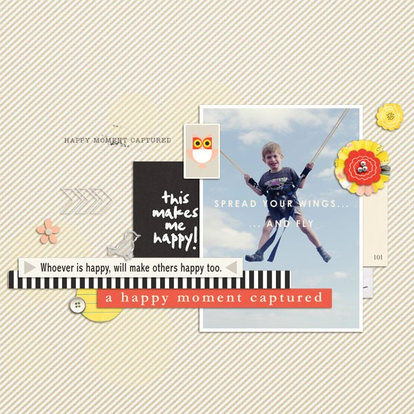 Happy Moment digital scrapbook layout by dul using Pure Happiness by Sahlin Studio