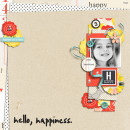 Hello Happiness digital scrapbook layout by sucali using Pure Happiness by Sahlin Studio