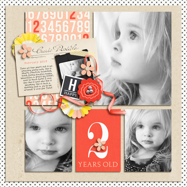Happy digital scrapbook layout by yzerbear19 using Pure Happiness by Sahlin Studio