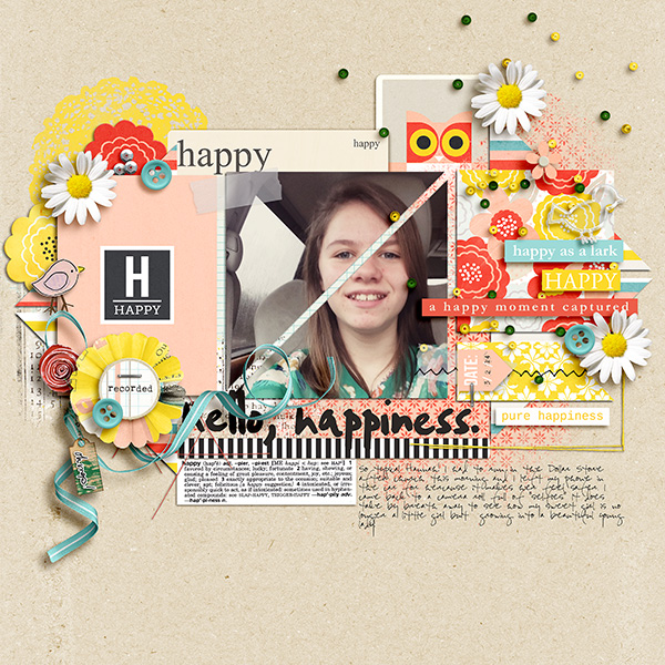 Pure Happiness digital layout by gracielou using Pure Happiness by Sahlin Studio