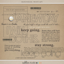 Motivational Word Art by Sahlin Studio - GREAT for journal prompts!!