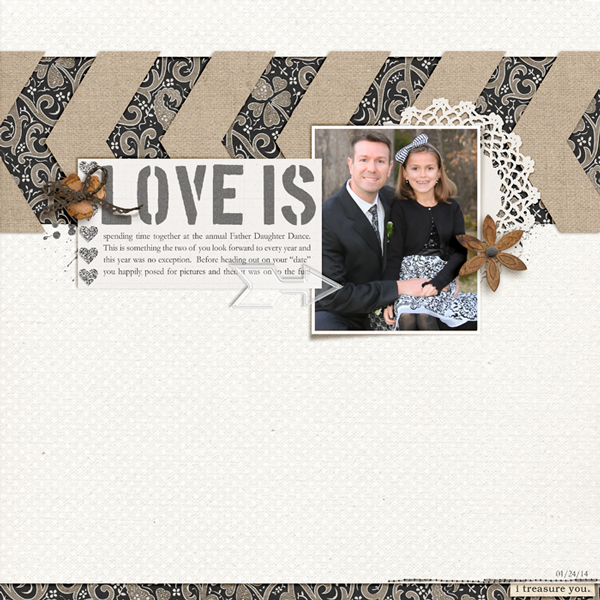 Love Is digital layout by rlma using Stamped Sentiments Digital Word Art No. 2: Love by Sahlin Studio