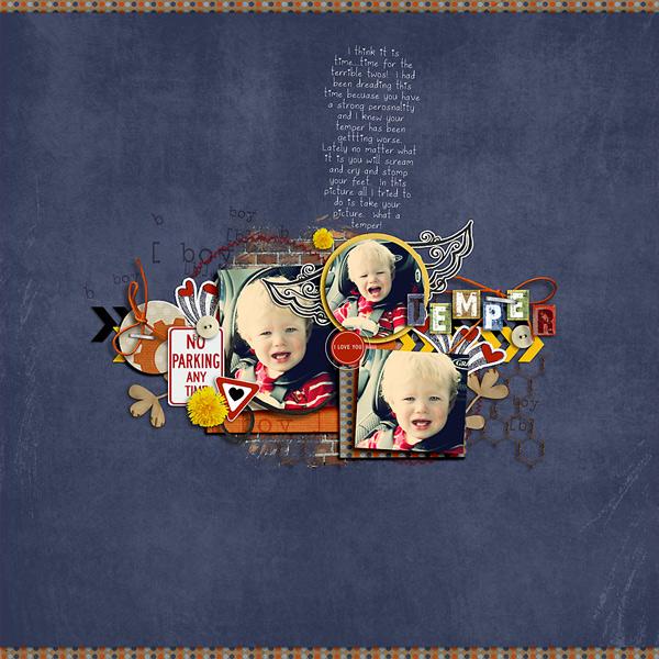 Boy digital scrapbook layout by stefanie featuring Grunge by Sahlin Studio