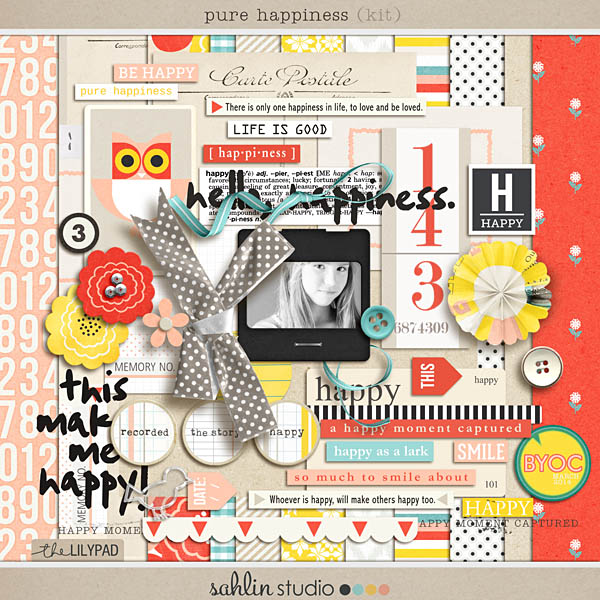 Pure Happiness (Kit) by Sahlin Studio - Digital Scrapbook Kit
