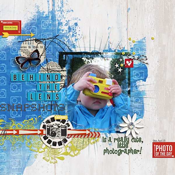Photo Of The Day digital scrapbook layout by Heather Prins using Anagram Letter Tile Alpha 2 by Sahlin Studio