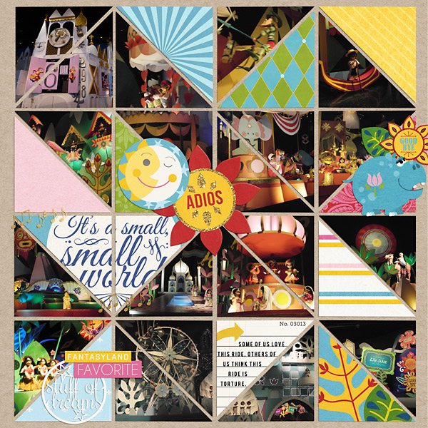 digital scrapbook layout created by PuSticks featuring the April 2014 FREE template by sahlin studio