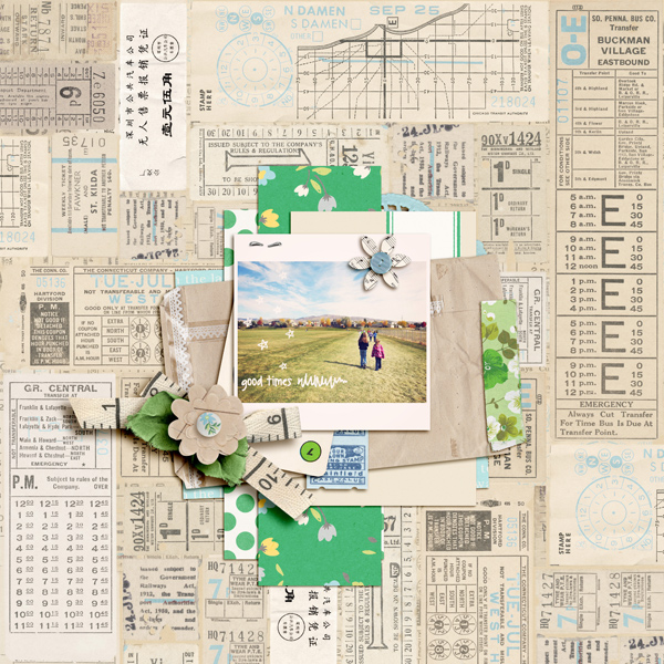 digital scrapbooking layout created by aballen featuring down the lane by sahlin studio