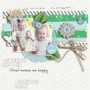 digital scrapbooking layout created by sucali featuring down the lane by sahlin studio