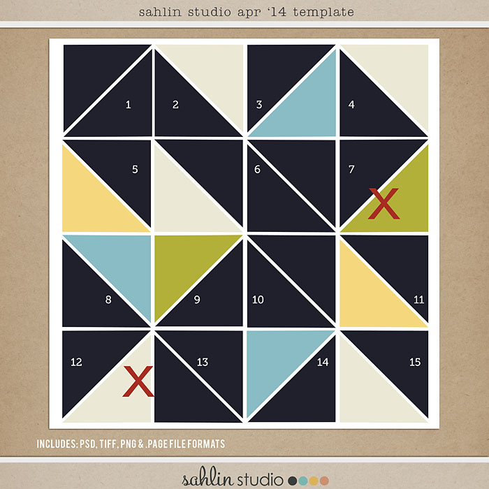 Free Digital Scrapbook Template - April 2014 by Sahlin Studio