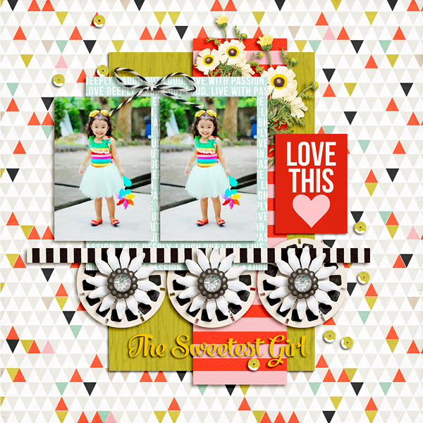 project life digital scrapbook page created by dianeskie featuring melon sorbet by sahlin studio