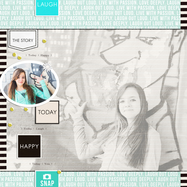 digital scrapbook layout created by EHStudios featuring melon sorbet by sahlin studio