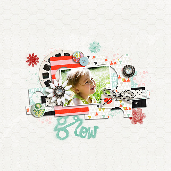 project life digital scrapbook page created by sucali featuring melon sorbet by sahlin studio