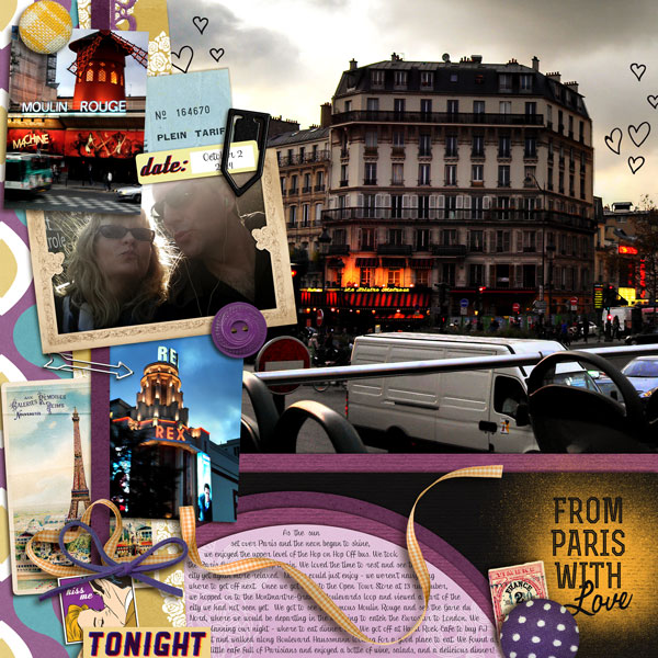 PARIS Digital Scrapbook page by norton94 featuring Digital Arrow Paper Clips by Sahlin Studio