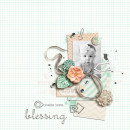 Blessing digital scrapbooking layout by sucali using Paper Clips - Arrows by Sahlin Studio