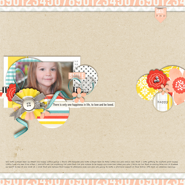 GIRL digital scrapbook layout by crystalbella77 using Pure Happiness by Sahlin Studio