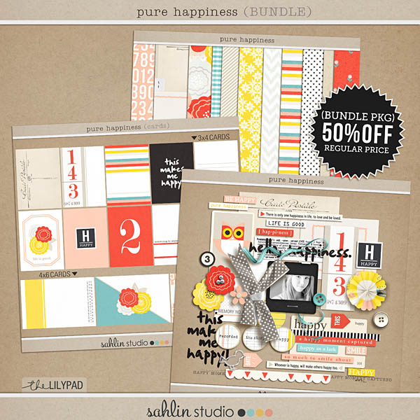Pure Happiness (Elements) by Sahlin Studio - Digital Scrapbooking Project Life Collection