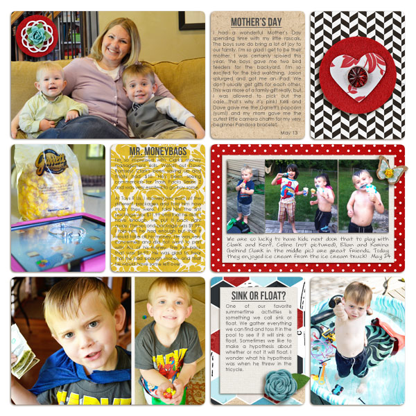 digital scrapbooking layout by plumdumpling featuring Precocious by Sahlin Studio and Precocious Paper