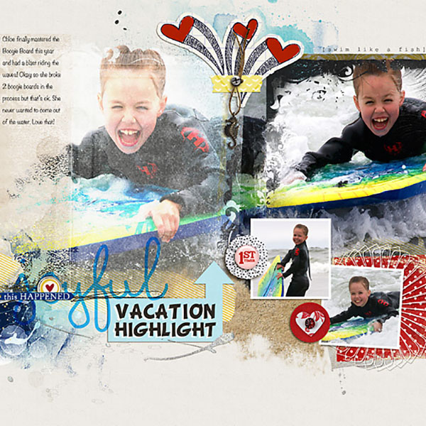 digital scrapbooking layout by HeatherPrins featuring Precocious by Sahlin Studio and Precocious Paper