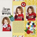 digital scrapbooking layout by charmedeebob featuring Precocious by Sahlin Studio and Precocious Paper