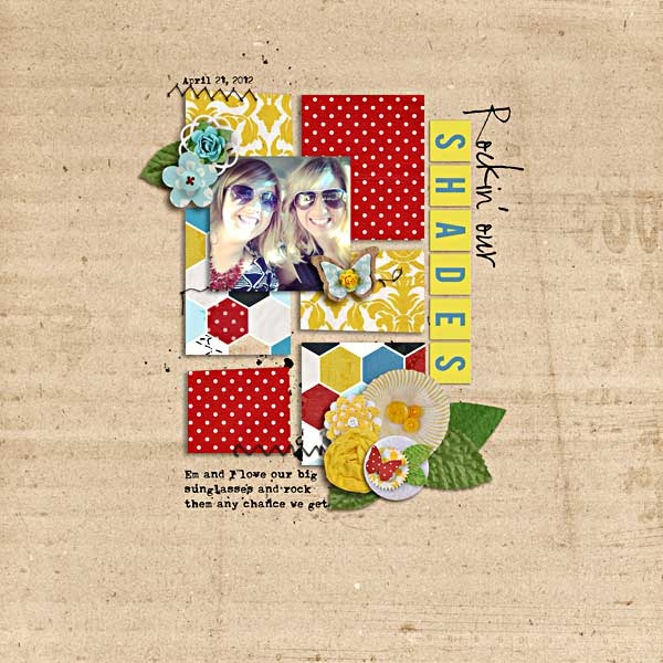 digital scrapbooking layout by kimpson featuring Precocious by Sahlin Studio and Precocious Paper