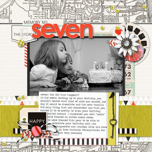 Digital scrapbook page created by ajjones featuring Melon Sorbet by Sahlin Studio