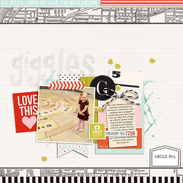 Digital scrapbook page created by mamatothree featuring Melon Sorbet by Sahlin Studio