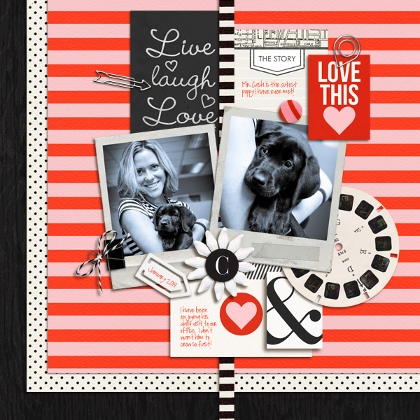 Digital scrapbook page created by mikinenn featuring Melon Sorbet by Sahlin Studio