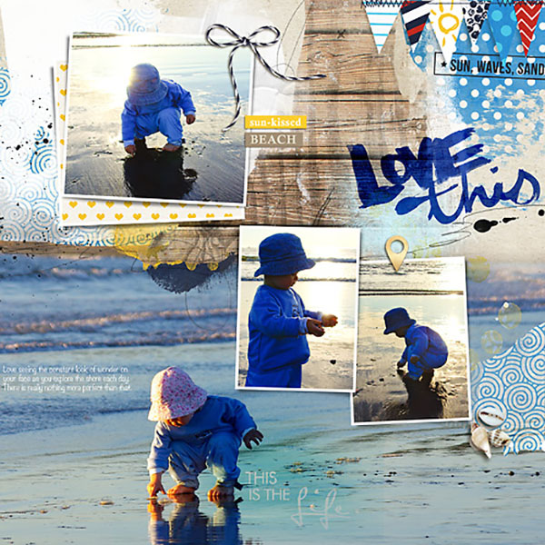 Beach Digital Scrapbook Page by Heather Prins using Project Mouse (At Sea): Bundle by Britt-ish Designs & Sahlin Studio