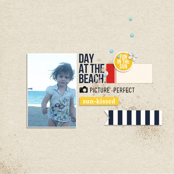 Beach Digital Scrapbook Page by MlleTerraMoka using Project Mouse (At Sea): Bundle by Britt-ish Designs & Sahlin Studio