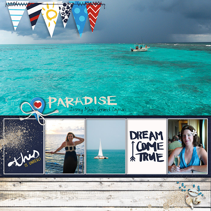 Disney Cruise digital scrapbook page by SharonAlbright featuring Project Mouse (At Sea): Elements by Britt-ish Designs and Sahlin Studio
