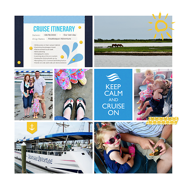 Cruise Digital Project Life Page by TeresaVictor using Project Mouse (At Sea): Bundle by Britt-ish Designs & Sahlin Studio