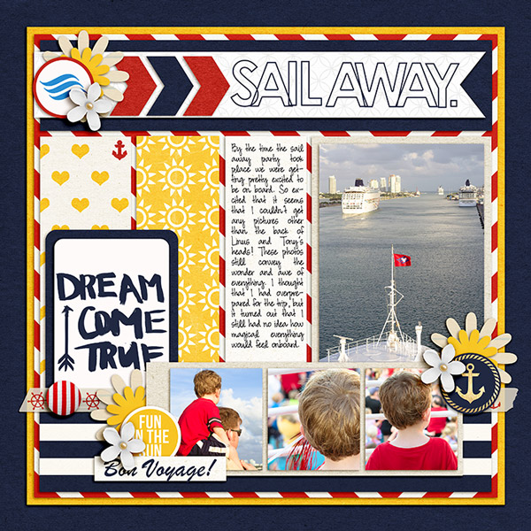 Disney Cruise digital scrapbook page by terrab featuring Project Mouse (At Sea): Elements by Britt-ish Designs and Sahlin Studio