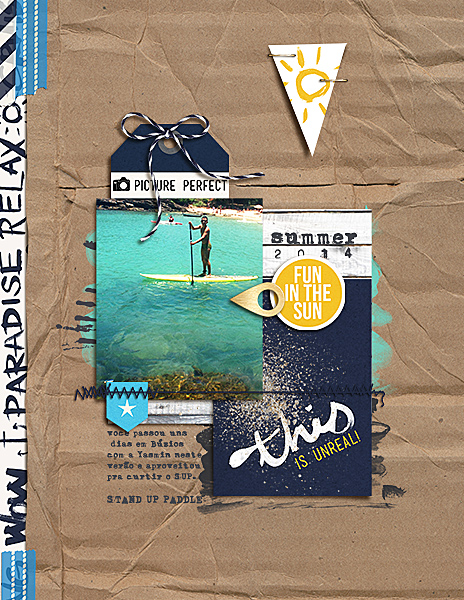 Ocean / Sea Digital Scrapbook Page by amandaresende using Project Mouse (At Sea): Bundle by Britt-ish Designs & Sahlin Studio