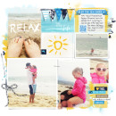 Relax Digital Scrapbook Layout by britt using Project Mouse (At Sea): Bundle by Britt-ish Designs & Sahlin Studio