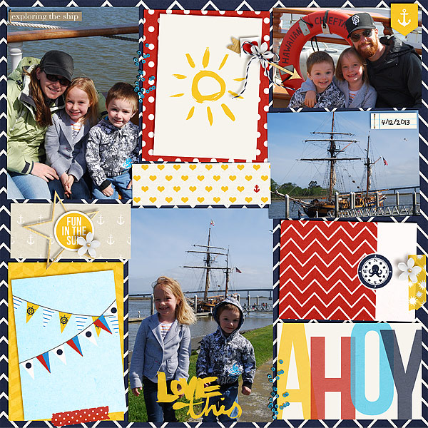 Fun In The Sun Digital Project Life page by christie using Project Mouse (At Sea): Bundle by Britt-ish Designs & Sahlin Studio