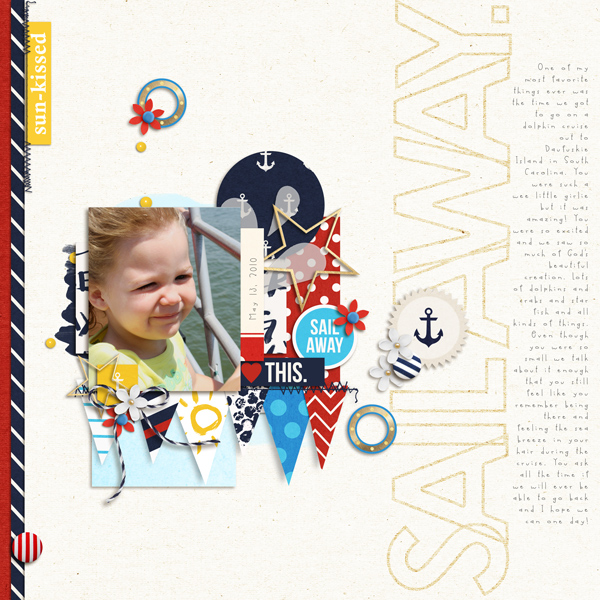 Cruise Digital Scrapbook Page by crystalbella77 using Project Mouse (At Sea): Bundle by Britt-ish Designs & Sahlin Studio