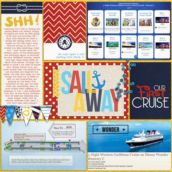 Disney Cruise Digital Scrapbook Page by erica using Project Mouse (At Sea): Bundle by Britt-ish Designs & Sahlin Studio