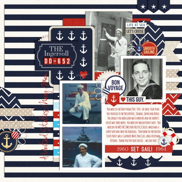 Life At Sea Digital Scrapbook Page by fonnetta using Project Mouse (At Sea): Bundle by Britt-ish Designs & Sahlin Studio
