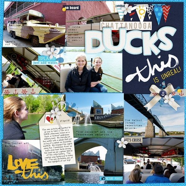 Duck Cruise Digital Scrapbook Page by jan using Project Mouse (At Sea): Bundle by Britt-ish Designs & Sahlin Studio