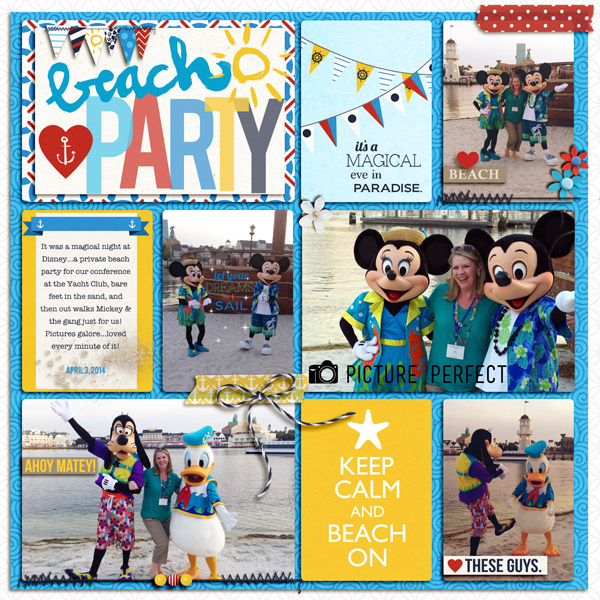 Disney Beach Party Digital Scrapbook Page by julie using Project Mouse (At Sea): Bundle by Britt-ish Designs & Sahlin Studio