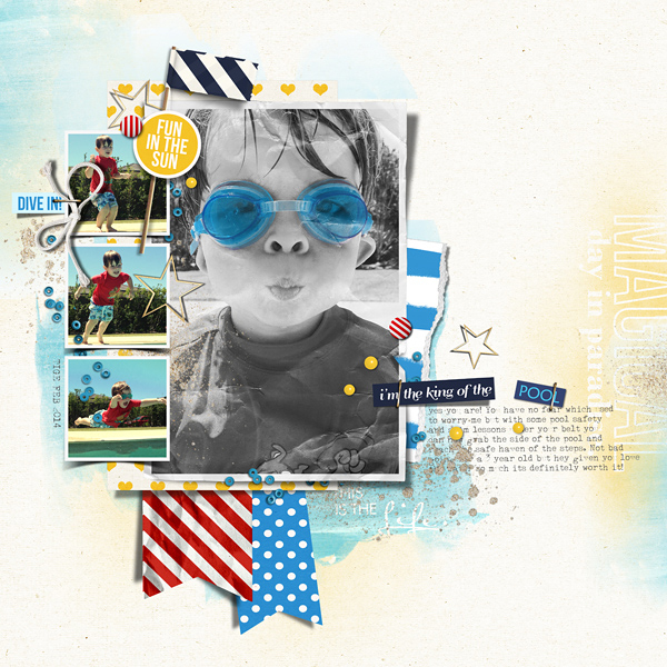 Pool Digital Scrapbook Page by justagirl using Project Mouse (At Sea): Bundle by Britt-ish Designs & Sahlin Studio