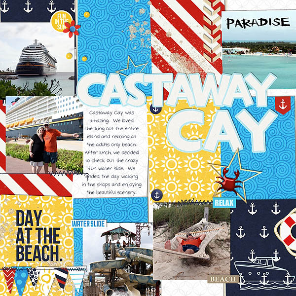 Castaway Cay Digital Scrapbook Page by melinda using Project Mouse (At Sea): Bundle by Britt-ish Designs & Sahlin Studio